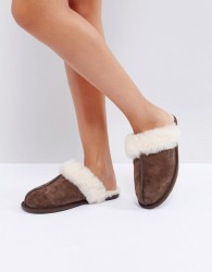 UGG Scuffette II Espresso Slippers - Brown