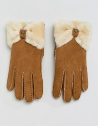 UGG Sheepskin Bow Gloves - Tan