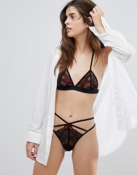 Ultimo Tokyo Nights Kioko Red Bralette & Thong Set - Red