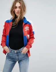 Umbro Retro Sporty Zip Front Tracksuit Jacket With Colour Block - Multi