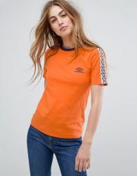 Umbro T-Shirt With Tape Logo - Orange