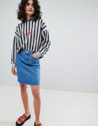 Uncivilised Denim Mini Skirt - Blue