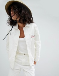 Uncivilised Embroidered Workers Jacket - Cream