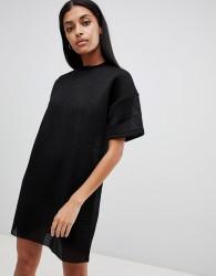 Uncivilised Mesh Tee Dress - Black