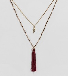 Uncommon Souls tassle necklace with cross - Gold