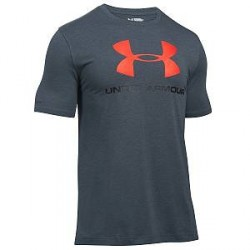Under Armour Charged Cotton Sportstyle Logo - Grey/Red - Medium * Kampagne *