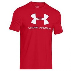 Under Armour Charged Cotton Sportstyle Logo - Red * Kampagne *