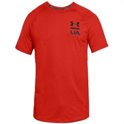 Under Armour MK-1 Logo Graphic Short Sleeve - Red * Kampagne *