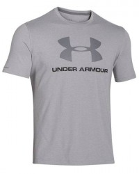 Under Armour (UA) Under Armour grå Charged Cotton Logo T-Shirt 1257615 025