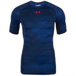 Under Armour (UA) Under Armour HeatGear Blå Armour Kompressions T-shirt 1257477 408