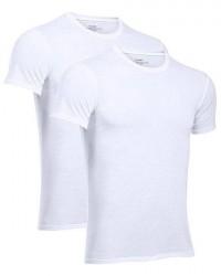 Under Armour (UA) Under Armour Hvide Crew T-shirts 2-Pak 1272393 100