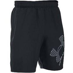 Under Armour (UA) Under Armour Sorte Shorts med Grafik 1286060 001