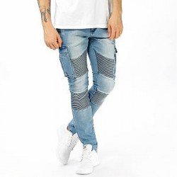 Underated Jeans - Stone Wash Cargo Biker