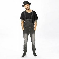 Underated Overalls - Distressed Stone