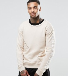 Underated Sweatshirt With Front Zip Pocket - Stone