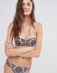 Undiz Printed Lattice Bikini Top - Multi