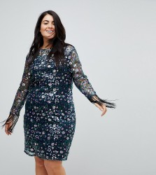 Unique 21 Hero Lace Dress In All Over Floral Sequin - Multi