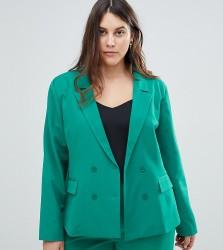 Unique 21 Hero Plus Double Breasted Blazer Co-Ord - Green