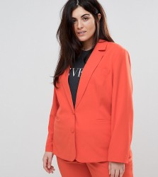 Unique 21 Hero Plus Longline Blazer Co-Ord - Orange