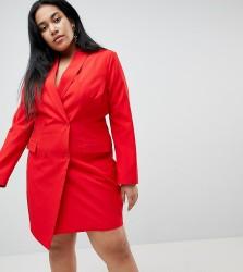 Unique 21 Hero Plus Tuxedo Dress - Red