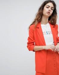 Unique 21 Longline Blazer Co-Ord - Orange
