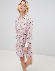 Unique 21 Pink Floral Shirt Dress - Multi