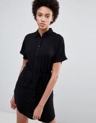 Unique21 Belted Shirt Dress - Black
