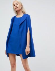 Unique21 Cape Shift Dress - Blue