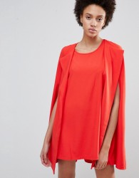 Unique21 Cape Shift Dress - Red
