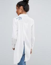 Unique21 Embroidered Shirt - White
