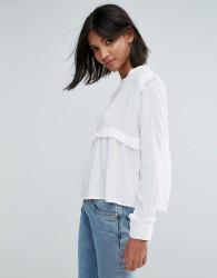Unique21 Frill Blouse - White