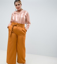 UNIQUE21 hero plus paperbag waist wide leg trousers - Brown