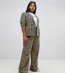 UNIQUE21 Hero Plus wide leg trousers co-ord - Yellow