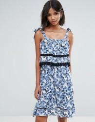 Unique21 Printed Dress - Blue