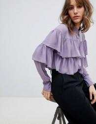 Unique21 Ruffle Layer Blouse - Purple