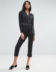 Unique21 Spotty Pyjama Jumpsuit - Black