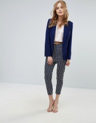 Unique21 Stripe Tapered Trousers - Navy
