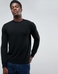 United Colors of Benetton Cashmere Blend Jumper In Black - Black