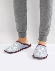 United Colors of Benetton Christmas Snowflake Slippers - Grey