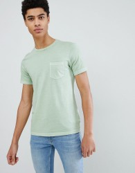 United Colors of Benetton Crew Neck T-Shirt In Green - Red