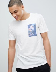 United Colors of Benetton Crew Neck T-Shirt With Chest Print - White