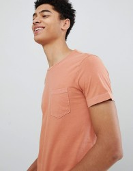 United Colors of Benetton Crew Neck T-Shirt With Overdye In Orange - Yellow