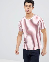 United Colors of Benetton Crew neck T-shirt with Red Stripe - Red