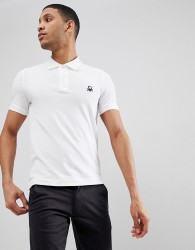 United Colors of Benetton Muscle Fit Polo in White - White