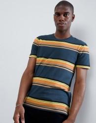 United Colors Of Benetton Retro Stripe T-Shirt - Blue