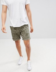 United Colors of Benetton Shorts With Print In Khaki - Green