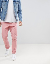 United Colors of Benetton Slim Fit Chinos in Pink - Pink