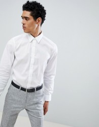 United Colors of Benetton Slim Fit Shirt with Stretch in White - White