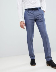 United Colors of Benetton Slim Fit Suit Trousers in Blue - Blue