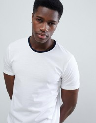 United Colors of Benetton T-shirt with Contrast Crew Neck - White